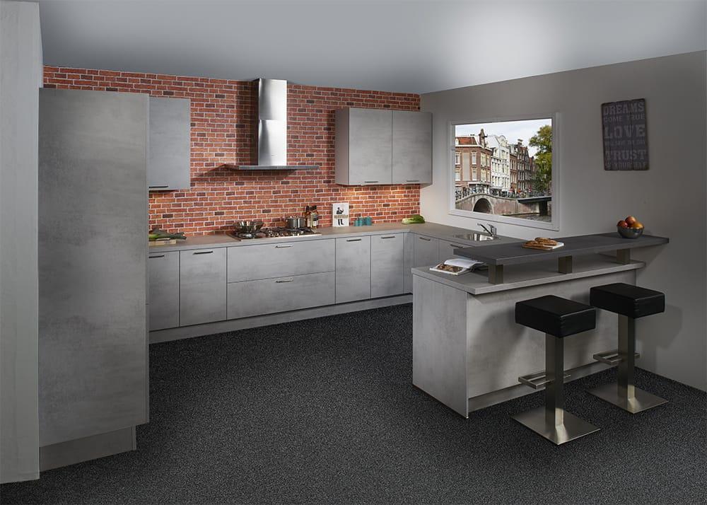 Stoere Keuken Grey : Industriële keukens in elke opstelling en voor elk budget